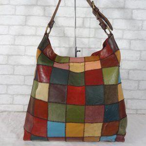 Xlarge Lucky Brand Patchwork Tote Shoulder Bag